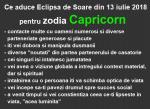Ce aduce Eclipsa de Soare din 13 iulie 2018 pentru zodia Capricorn