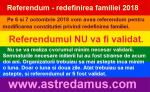 Referendum pentru redefinirea familiei 2018