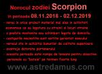 Norocul in 2019 la zodia Scorpion