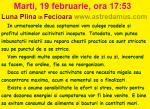 Marti, 19 februarie, ora 17:53, Luna Plina in Fecioara