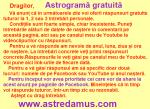 astrograma gratuita